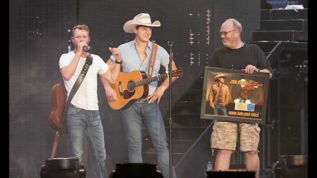 Jon Pardi Surprised with Gold Plaque by Dierks Bentley