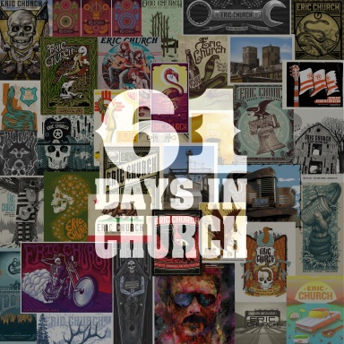 ERIC CHURCH'S 61 DAYS IN CHURCH CONTINUES: NEXT 30 SONGS RELEASED TODAY